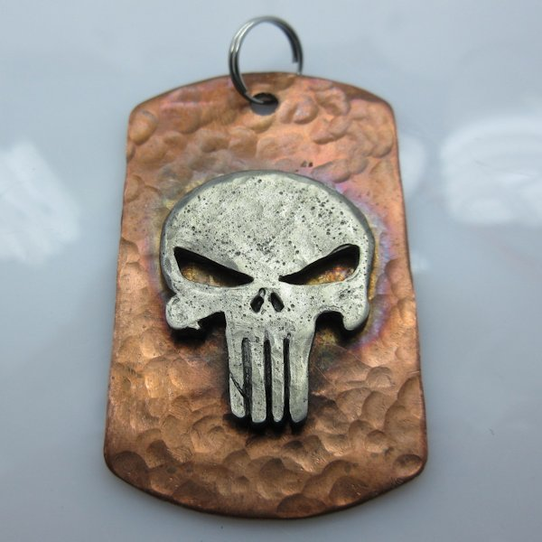 Punisher Dog Tag in Copper/Pewter by Marco Magallona